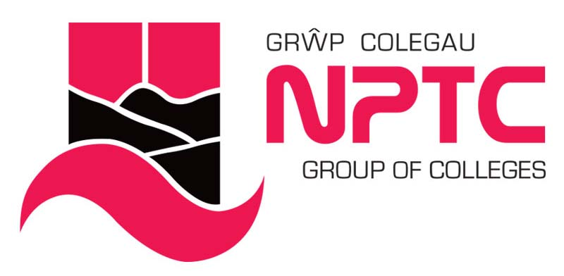 Colour logo of NPTC, supporter of Swansea Firework Display