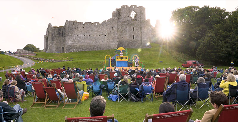 Outdoor Theatre at Oystermouth Castle Swansea