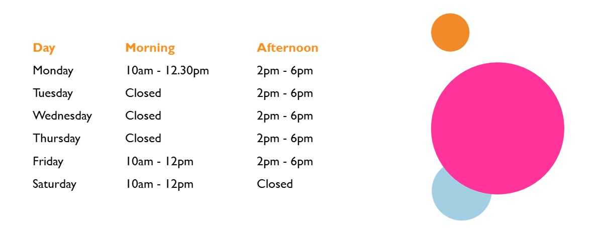 Townhill Opening Hours