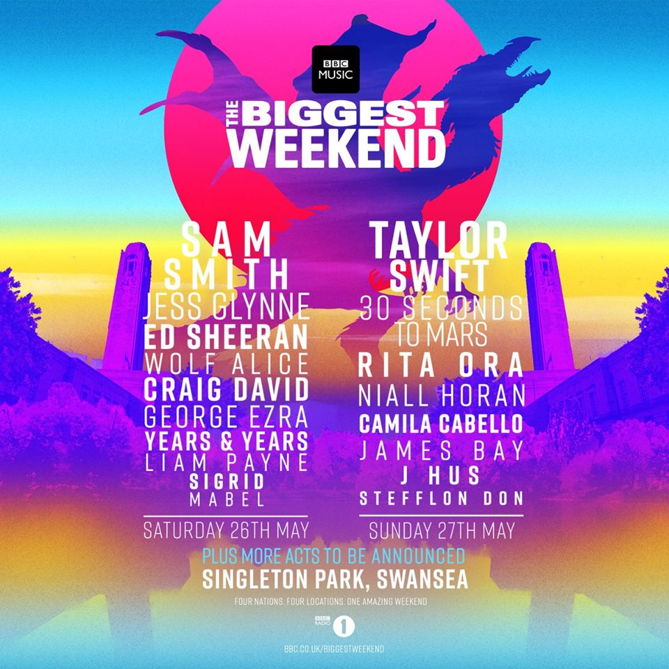 Biggest Weekend Latest Line-up