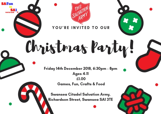 Swansea Citadel Salvation Army Christmas Party