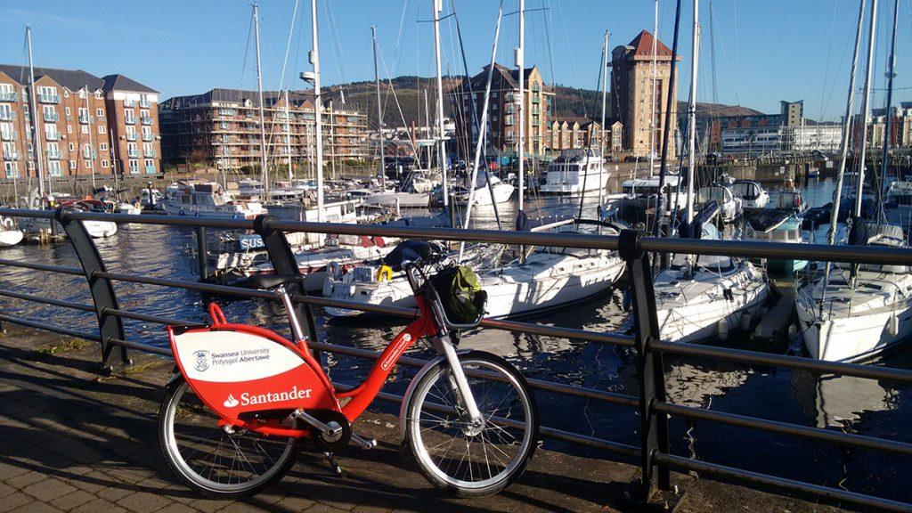 Santander Cycles Swansea Marina