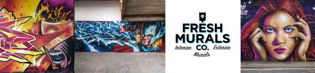 a selection of Fresh Mural paintings