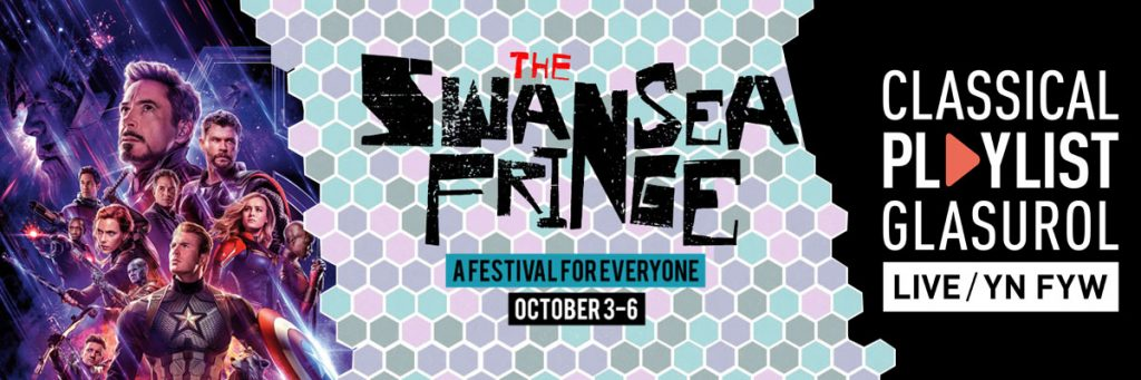 Swansea Fringe 2019 with Superheroes in Castle Square and BBC NOW Playlist Live