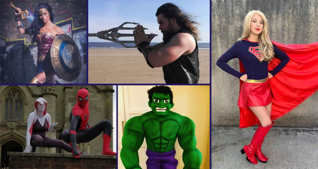 all of the superheroes appearing at Superheroes in the Square Swansea